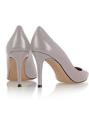 ELASHE Altos tacón Wedding Tacones 8 Gris CM Cerrado Clásicas de Zapatos Mujer Boda r0qFAr