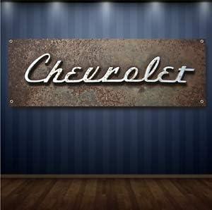 FREE SHIPPING Vintage Chevrolet Chevy 1/' X 3/' Garage Banner 13oz Vinyl
