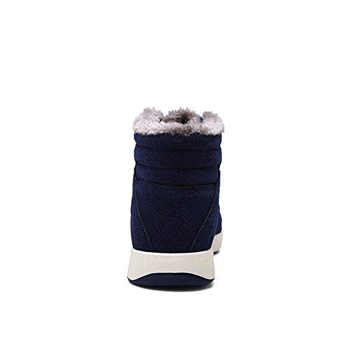 AILU Men's Snow Boots 8806-Blau 5Y4oeUUK