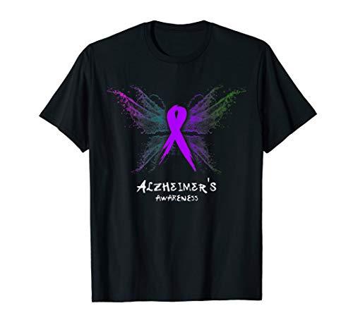 ALZHEIMER'S Awareness Shirt - butterfly T-Shirt