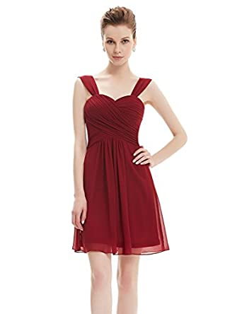 Ever Pretty Ruffles Padded Chiffon Knee-length Bridesmaid Dresses ...