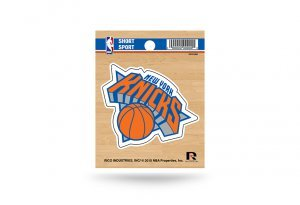 Rico Industries NBA New York Knicks Die Cut Team Logo Short Sport Sticker