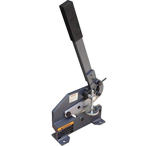 KAKA HS-5 5-Inch Sheet Metal Plate Shear, Solid Construction Mounting Type Metal Shear, High Precision Manual Hand Plate Shear
