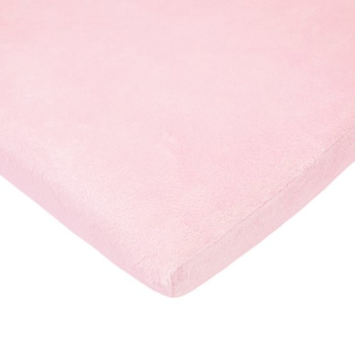 American Baby Company Heavenly Soft Chenille Fitted Pack N Play Playard Sheet, Pink, 27