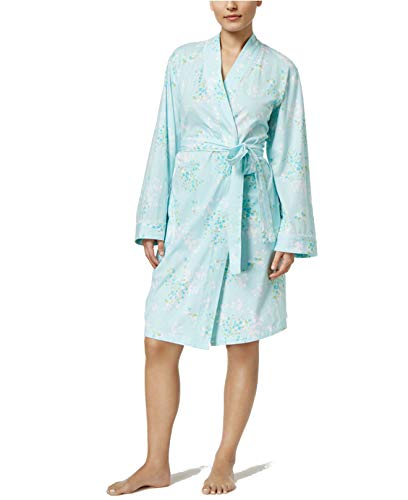 - Charter Club Lace-Trimmed Printed Cotton Robe, Floral Spray, XXX-Large