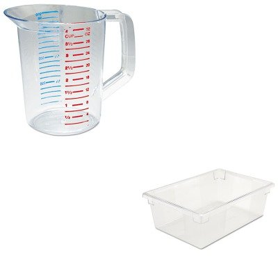KITRCP3216CLERCP3300CLE - Value Kit - Rubbermaid-Clear Food Boxes; 12 1/2 Gallon (RCP3300CLE) and Rubbermaid-Clear Bouncer Measuring Cups 1 Quart (RCP3216CLE)