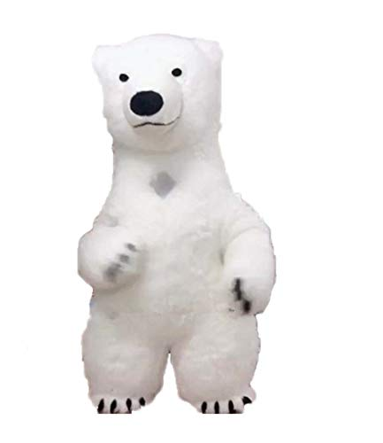 Adults Inflatable Suit Polar Bear Mascot Costume for Opening Ceremony Theme Park and Party -
