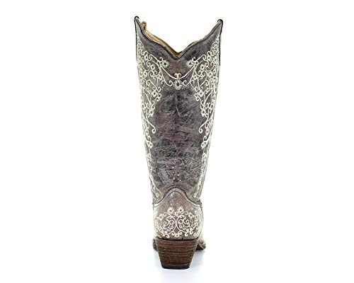 Crater Western Boot Ladies Brown Embroidery Brown Corral Bone p7FqA6