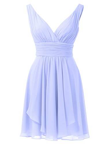 Alicepub Bridesmaid Prom Sexy Dress Evening V Dresses Short Lavender Gown Sleeveless Neck rqrpR7g