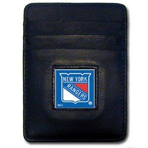 - NHL New York Rangers Leather Money Clip/Cardholder