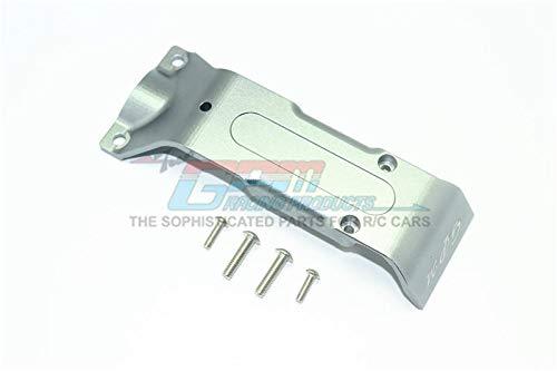 Traxxas E-Revo 2.0 VXL Brushless (86086-4) Upgrade Parts Aluminum Rear Skid Plate - 1Pc Set Gray Silver