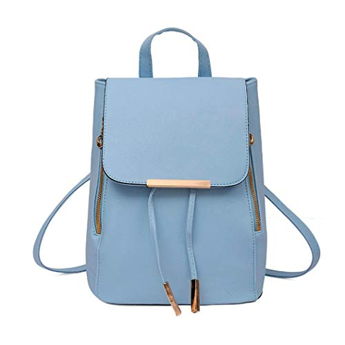 Women Laptop College Clutch Vpass Casual Bag Fashion Leather Resistant 2pcs Blue School Travel Backpack Girls Handbag Water PSx6X6Eqw