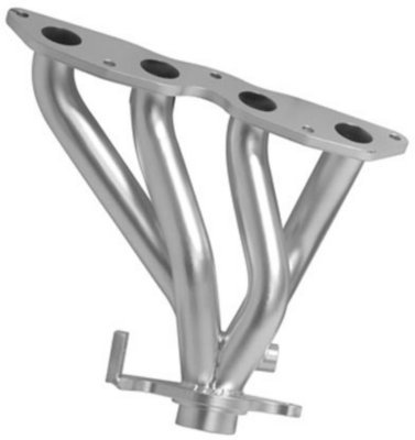 4407 - DC Sports THC4407 Headers - Ceramic Coated, Made of Stainless Steel, 4-1, Direct Fit (Stainless Finish Header)