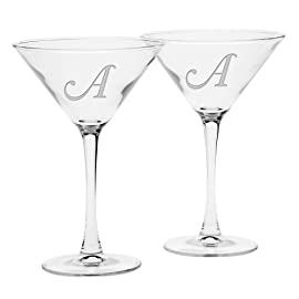 Culver Deep Etched Martini Glass, 7-1/4-Ounce, Monogrammed Letter-Z, Set of 2 1 Custom deep etched glass drinkware with a single letter monogram Set of 2 Martini Glasses 7-1/4-Ounce Our Deep Etched glasses are Dishwasher Safe
