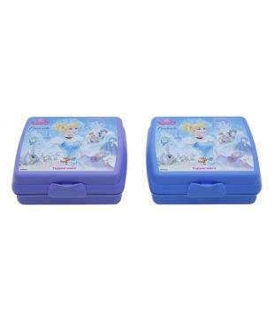 Tupperware Cinderella Sandwich Keeper 2 Pcs Purple Colour Lunch Boxes