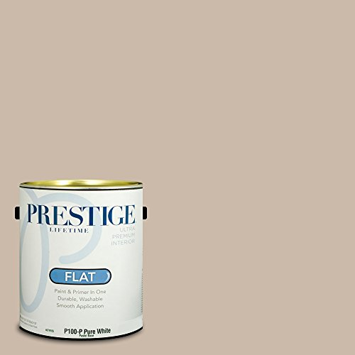 Prestige Paints Interior Paint and Primer In One, 1-Gallon, Flat,  Comparable Match of Benjamin Moore Shabby Chic (Paint Shabby Chic)