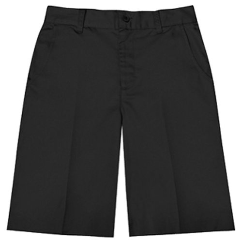 Classroom Uniforms Juniors Flat Front Bermuda Short, Black, 12