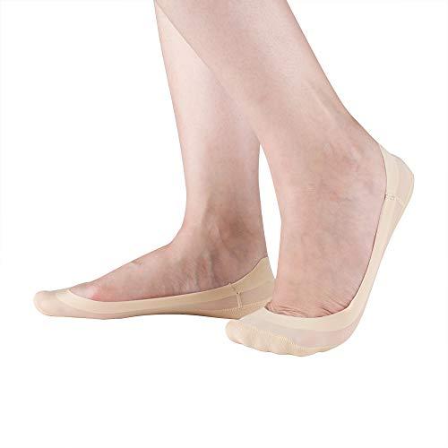 Women's Socks No Show Liner Non Slip Nylon Hidden Low Cut Flat Socks 4 to 6 Pack (4)