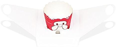 Lot de 12/bo/îtes /à cupcake portables avec fen/être en PVC et socle en carton