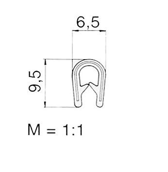 EUTRAS Kantenschutz 2166 KS1051 Klemmprofil Keder 3 m 2 mm schwarz Klemmbereich 1