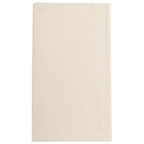 Hoffmaster 180517 Ecru 15'' x 17'' Paper Dinner Napkins 2-Ply - 1000 / Case by Hoffmaster Group, Inc
