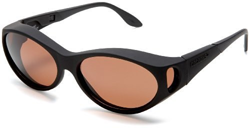 Cocoons Fitovers Polarized Sunglasses Stream Line (SM),C602C Black Frame/Copper Lens,One Size (Streamline Polarized Sunglasses)