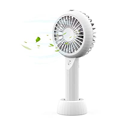 AceMining Rechargeable Battery Operated Handheld Fan with Personalized Cooling Humidifier, Misting Fan, Water Spray Fan,3 speeds,Strong Wind,Quiet,Small,Cooling for Home, Office, Travel, Camping