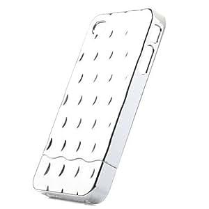 TY-Desmontable parte posterior chapado caso para el iphone 4 de plata