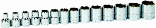 Williams 31932 14-Piece 3/8-Inch Drive Metric Shallow 6 Point Socket Set