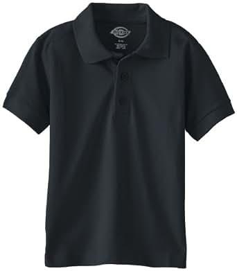 Dickies Little Boys' Short Sleeve Pique Polo Shirt, Dark Navy, Small