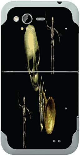 Spooky Skeleton Trumpet Player Rhyme Vinyl Decal Sticker -