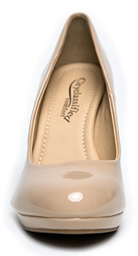 H Dark Sole Inner Patent Memory Classified Cushioned Foam Beige PumpSuper City Jack wgSTp