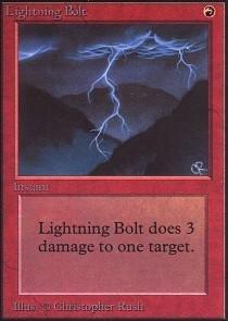Magic: the Gathering - Lightning Bolt - Unlimited - Lightning Bolt Magic