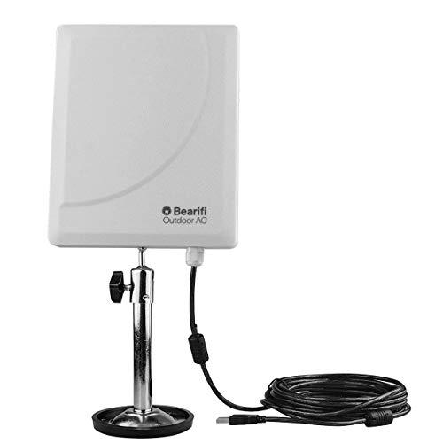 Bearifi BearExtender Outdoor AC 802.11ac Dual Band 2.4/5 GHz High Power USB Wi-Fi Extender Antenna PCs ()
