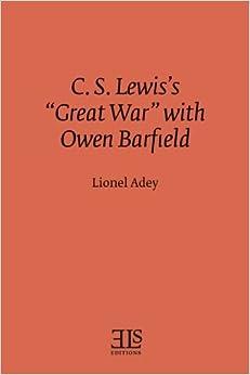 Como Descargar Libros En C. S. Lewis's Great War With Owen Barfield Libro Epub