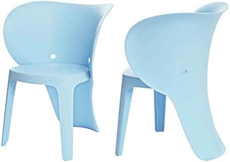 SoBuy KMB12-BX2,Set de 2 Silla Infantil,Color Azul,con Diseño de ...