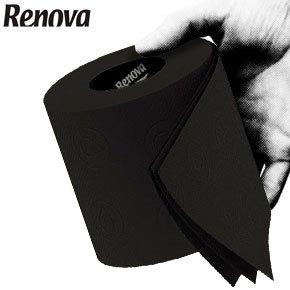 Renova 3 Ply Soft Colour Toilet Loo Bathroom Tissue Paper Rolls 6 Pack (BLACK)