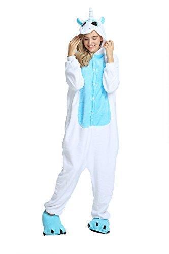 Blue Mystery Monos Animales amp;melody Ropa Unisex Dormir Pijamas Unicorn Unicornio Cosplay De unicorn Franela Disfraces adulto Fiesta gZw8gq