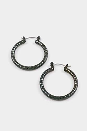 GlitZ Finery Diamond Cut Hoop Earring