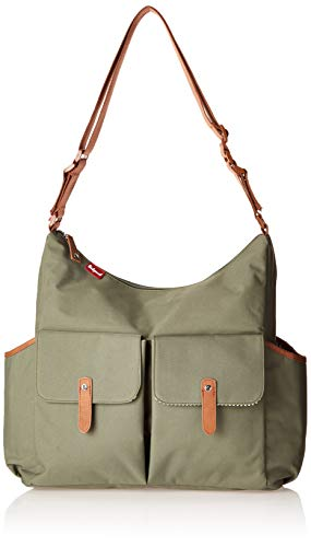 Babymel Frankie Shoulder Bag Diaper Bag, Moss
