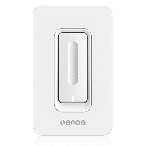 [UPGRADED VERSION] Smart Dimmer Switch Compatible with Alexa, Google Home Touch Timing Switch Wifi Smart Wall Switch Lighting Control for Bedroom, Kitchen, Bathroom, Living Room Neutral Wire Required