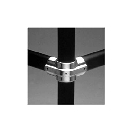 """Black 11E-8 Aluminum HOLLAENDER 2/"""" Side Outlet Tee-E Structural Fitting"""