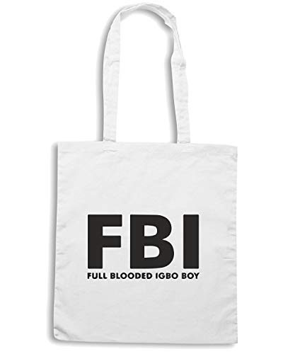 Shirt TM0548 FBI Speed Bianca Borsa Shopper FRqqwYZ