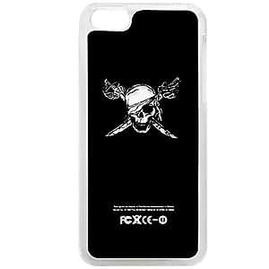 Skull Flash Lighting Hard Case for iPhone 5C , Blue