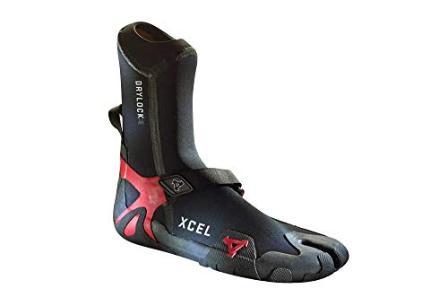XCEL Drylock 3mm Split Toe Booties - Black/red, 11