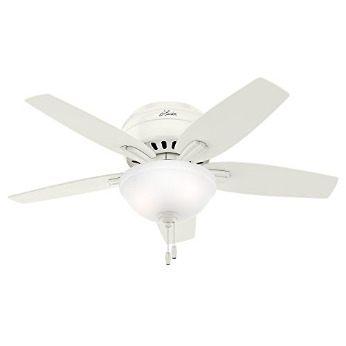 Hunter Fan Company 51080 Newsome Ceiling Fan with Light, 42 Small, Fresh White