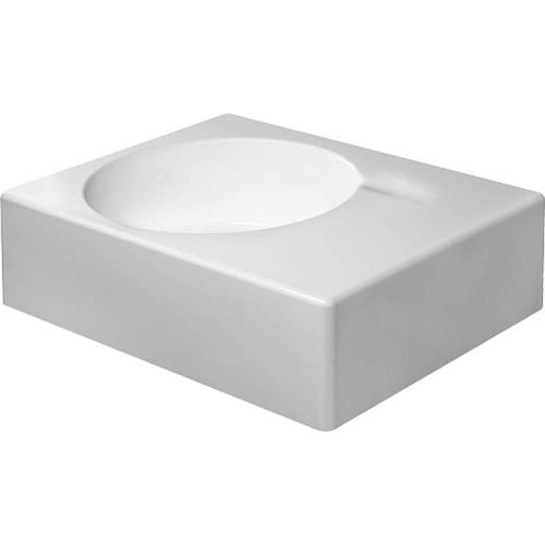 Duravit 0684600011 Scola Single-Hole Wash Basin with Left Sided Bowl, White Finish