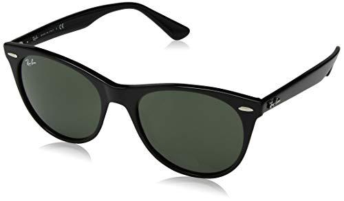 Ray-Ban RB2185 Wayfarer II Sunglasses, Black/Green, 55 ()