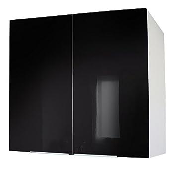 Berlenus CP8HN Hoher Küchenschrank, 2 Türen, 80 cm, glänzendes ...