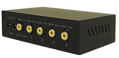 1 In 4 Out Composite BNC Video Splitter - Rack Mount Ready by AllAboutAdapters